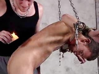 Leo James In Hot Gay Bondage And Wax Sex