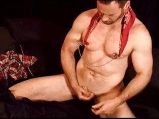 Watch me spank the monkey, I tug and pull on it until I cum
