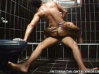 Blissful Interracial Shower Fuck