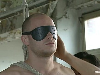 Straight German stud gets edged while his boyfriend watches