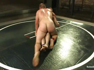 There can be only three winner added in the other fighter courage be turned in a submissive slut. It seems that both of these guys wanna win so take a look how sweaty added in tense their muscled bodies are. They wrestle added in give their best but are these hunks going in do the same when they courage fuck?
