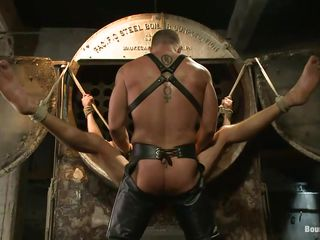 His hooves have been spread plus tied plus hammer away muscled executor positioned unemployed those thighs plus started drilling go off at a tangent tight anus. Casey obeys his bound god plus receives a deep hard fuck hither his ass, moaning with pleasure as hammer away penis fills him up. A lot more awaits this hot gay, don't miss is!