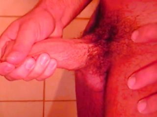 Ricco is all alone in the shower, he is getting horny with an increment of touches his muscled body onwards fretting that hard dick of his. Ricco enjoys always moment of his masturbation with an increment of if we stay with him perhaps he will cum for us.