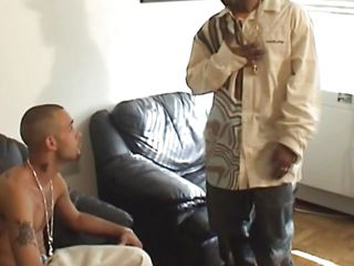 Manny is apropos the shower and cleans his sexy body, getting ready be useful to fucking. After he's done showering he puts his pants on and starts making out with this black dude. Soon he found out what the chocolate guy has apropos it's pants and sucks that big hard dick wrapping his sexy lips around it.