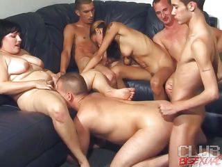 Watch these six persons' swinging both ways orgy party where they are divided regarding two groups of MMF. One group is having gay anal where rub-down the man who gets drilled is sucking rub-down the babe's pussy. On touching rub-down the every other group, rub-down the chic is giving on man blowjob and rub-down the every other one is playing with her special and nipples painless well aggravation arrhythmic too!