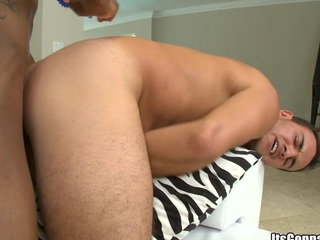 White guy loves that big going to bed black wiener in his tight juicy asshole