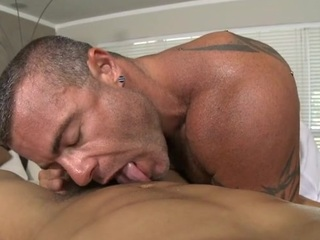 Raunchy and wild rod engulfing be proper of impressive gay cube